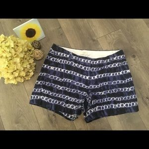J. Crew blue patterned shorts size 6